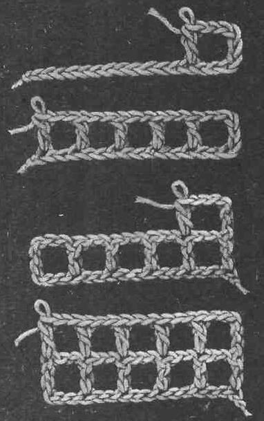 Японские плотные узоры крючком