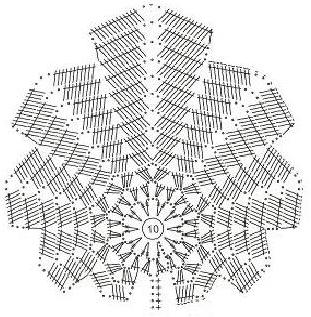 Листья схемы ирландское кружево