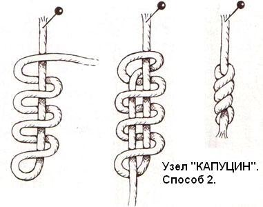 Декоративные узлы из шнура схемы